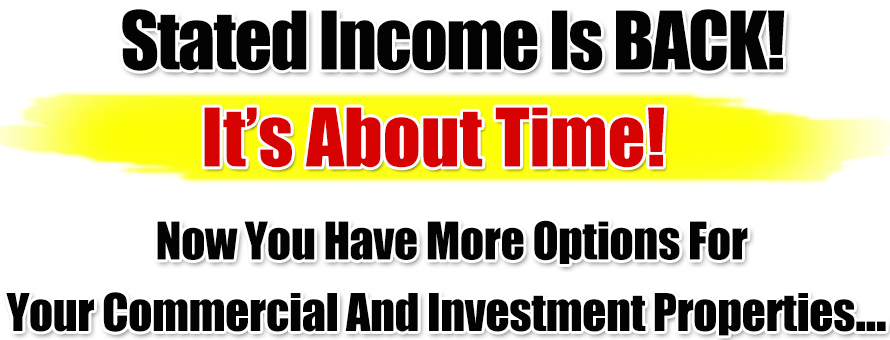 Stated Income Is Back
